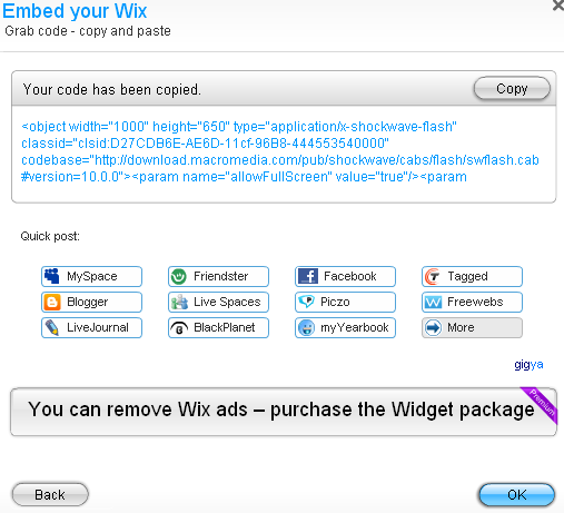 Wix Embed Code
