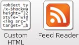 Weebly add custom html and RSS reader elements